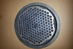 6 inch breaker plate filled with Polypropylene After 40 minutes at 850°F